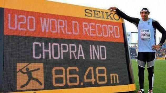 Javelin thrower Neeraj Chopra s focused on entering the big league in 2017, having set a junior world record of 86.48m in javelin throw.(PTI)
