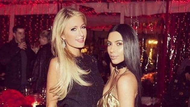 Reality TV star Kim Kardashian and socialite Paris Hilton reunited after a long time at the formers mother Kris Jenner's party.(Instagram/ParisHilton)