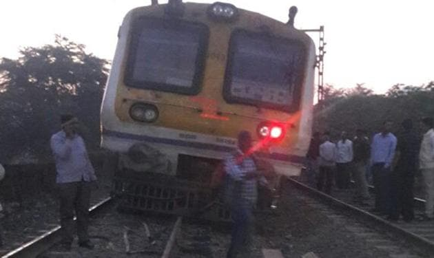 The mishap occurred due to a rail fracture around 5.30 am on Thursday(HT Photo)