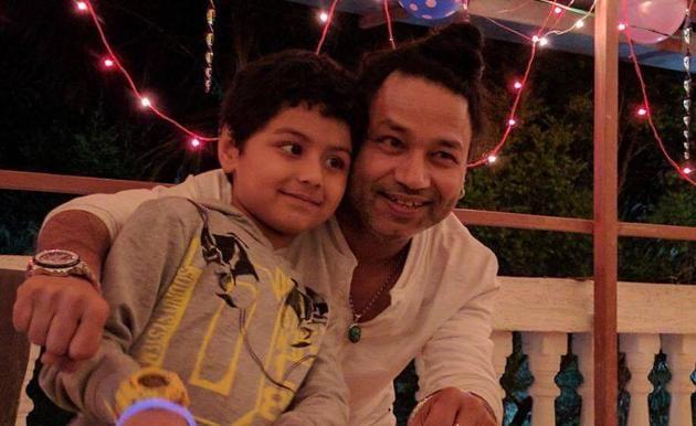 Singer Kailash Kher celebrated his son Kabir's seventh birthday at his farmhouse in Lonavla.