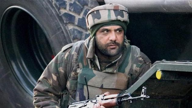 The incident occurred when following a tip off, security forces surrounded Shahgund (Hajin) village of Bandipora district early Thursday morning.(File Photo)