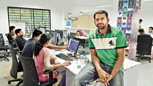 A file photo of the startup village in Kochi, where young entrepreneurs learn their ropes, hoping to make it big in the atmosphere of creativity.(Dinesh Krishnan/HT Photo)