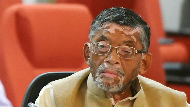 Minister of state for finance Santosh Gangwar after the 3rd meeting of GST Council in New Delhi.(PTI File Photo)