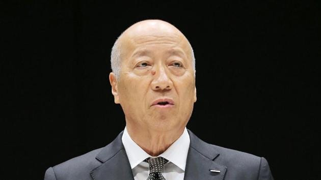 This photo taken on December 28, 2016 shows Tadashi Ishii, president of Japan's biggest advertising agency Dentsu, speaking during a press conference in Tokyo. Ishii said late on December 28 he plans to step down, a year after the suicide of a young employee that has been linked to allegations of extreme overwork at the company.(AFP Photo)