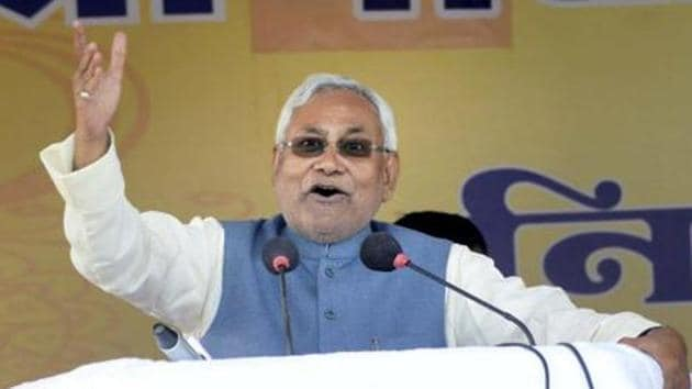 Bihar chief minister and JD(U) president Nitish Kumar during his Nischay Yatra in Sasaram on Thursday. The JD(U) has welcomed the Centr's ordiannce to penalise those in possession of scrapped banknotes post deadline.(PTI File Photo)
