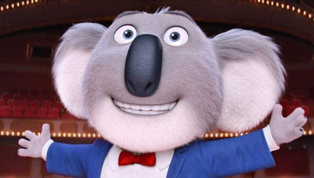 The animated musical with 85 songs is set in an anthropomorphic world where a koala (voiced by Matthew McConaughey) tries to save his theatre from going into the hands of the bank by starting a singing competition.(Universal)