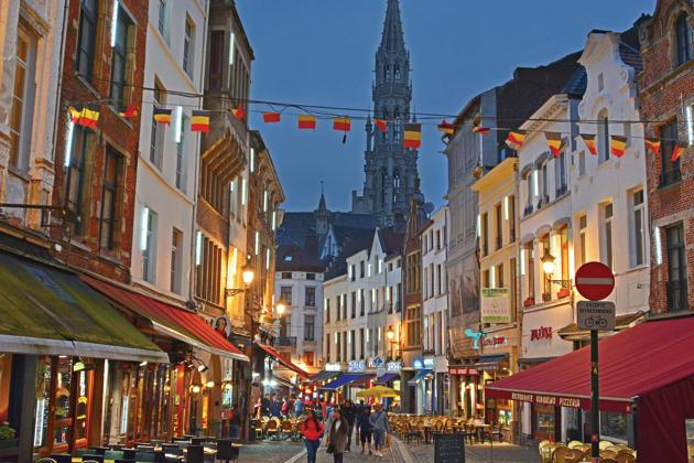 A typical street in the old quarters of Brussels(Saubhadra Chatterji)