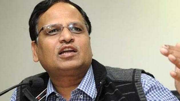 Delhi health minister Satyendra Jain was not available for comment.(HT File Photo)