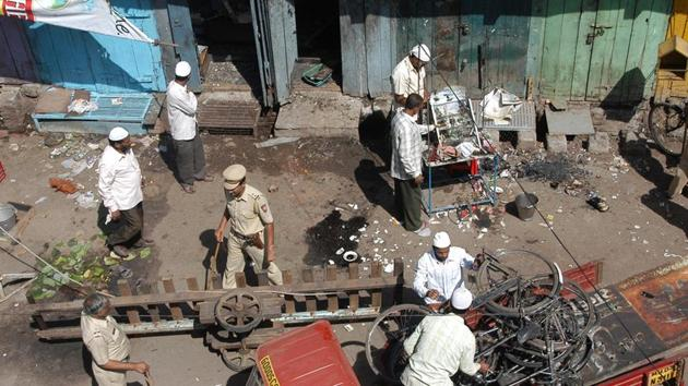 On Sept 29, 2008, an IED hidden in a motorcycle blasted killing six people and injuring 101.(HT FILE)