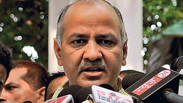 Delhi's deputy chief minister Manish Sisodia is in the process of shifting his office from Patparganj to Vinod Nagar.(HT FILE)