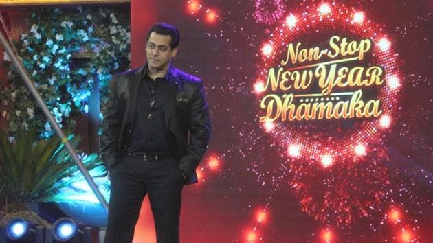 Salman Khan performs on Bigg Boss 10.
