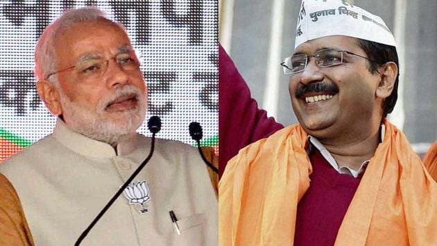 Delhi CM Arvind Kejriwal said Prime Minister Narendra Modi now sounds hollow and people have stopped believing him.(Agencies)