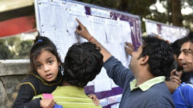 In 2007, the Delhi High Court had appointed the Ashok Ganguly Committee to recommend guidelines for nursery admissions. The committee had recommended a 100-point formula consisting of points for several criteria.(Arvind Yadav/HT Photo)