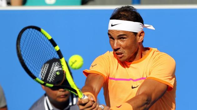Rafael Nadal ended an injury-plagued 2016 on a high by lifting the Mubadala World Tennis Championship title for a fourth time.(AFP)