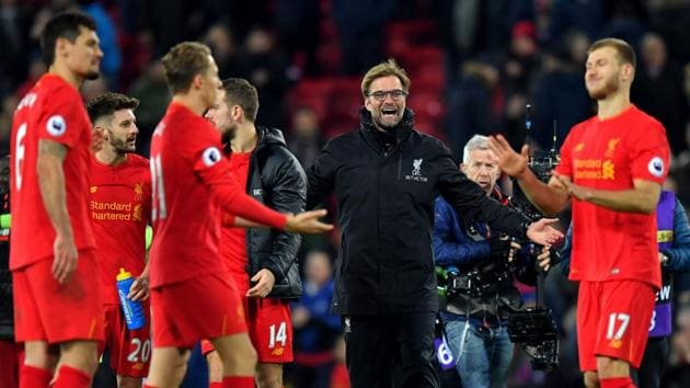 Liverpool F.C. ended 2016 on a high as they defeated Manchester City F.C. 1-0 to trim Chelsea F.C's advantage to six points in the Premier League.(AP)