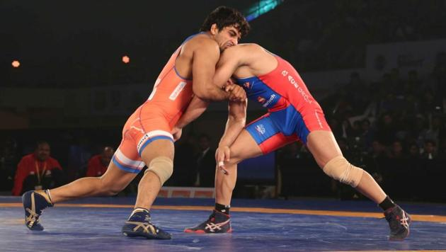 Haryana Hammers outplayed UP Dangal 5-2 in their Pro Wrestling League (PWL) contest.(ProSportify)