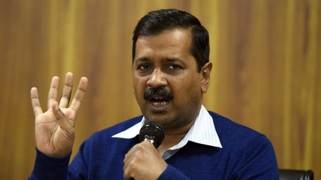 AAP leader Arvind Kejriwal's party is contesting elections in Punjab and Goa.(Sonu Mehta/HT PHOTO)