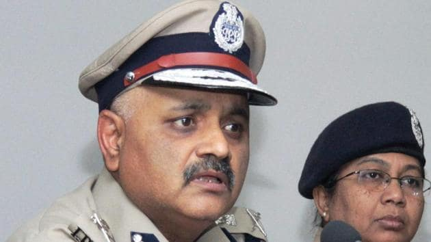 Bengaluru Police commissioner Pravin Sood addresses a press conference on Thursday.(PTI Photo)