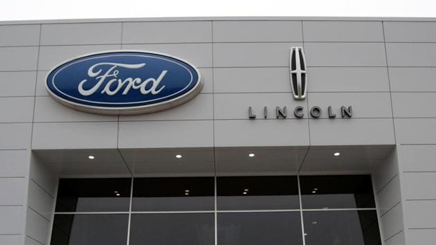 An entrance to the Ford Motor Co. Flat Rock Assembly Plant is seen in Flat Rock, Michigan, US on Tuesday.