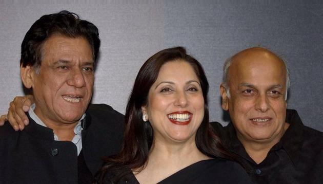 Late actor Om Puri with eminent Pakistani actor Samina Peerzada and Indian filmmaker Mahesh Bhatt.(File photo)