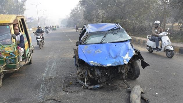 Rajasthan registered 10,465 deaths in road accidents in 2016 compared to 10,510 in 2015, according to police data.(HT Photo)