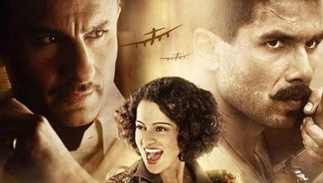 Rangoon is a period drama set during the 2nd World War.