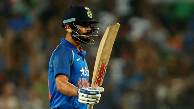 Virat Kohli struck a brilliant counter-attacking century to revive India in the first ODI against England at Pune on Sunday.(REUTERS)