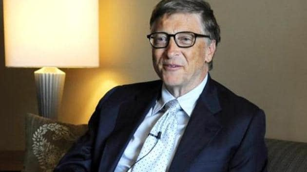 File photo of Bill Gates, the co-chair of the Bill and Melinda Gates Foundation. According to a Oxfam analysis released Jan 16, 2016, eight men including Gates own the same wealth as half the world's population.(Vipin Kumar / HT Photo)