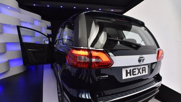 The Hexa is the fourth model and the first all new SUV under its revival plan tagged as HorizonNext strategy launched around five years ago. (Sanjeev Verma/HT PHOTO)
