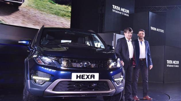 """Explaining the rationale behind positioning the Hexa as a lifestyle SUV, Mayank Pareek, Tata Motors President for passenger cars business unit, told PTI, """"We want to break the clutter. There are so many vehicles in the market that claim to be SUUVs/UVs. With the Hexa we want to give both the feel of an SUV and the comfort and style of a sedan."""" (Sanjeev Verma/HT PHOTO)"""
