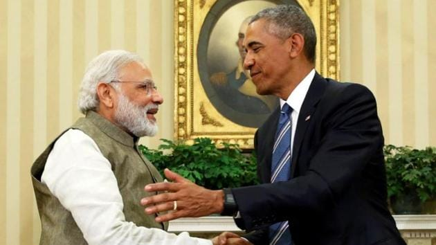 File photo of Prime Minister Narendra Modi shaking hands with US President Barack Obama in the Oval Office at the White House in Washington.(Reuters File Photo)