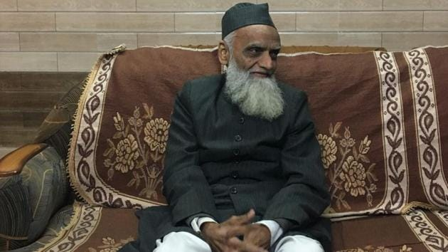 The mufti of Aligarh , Mohammed Khalid Hamid, explains why the community does not trust the BJP.(HT Photo)