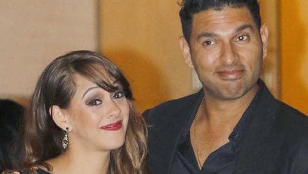 Yuvraj Singh got married to Hazel Keech in November last year and she has brought him luck, it seems.(HT Photo)