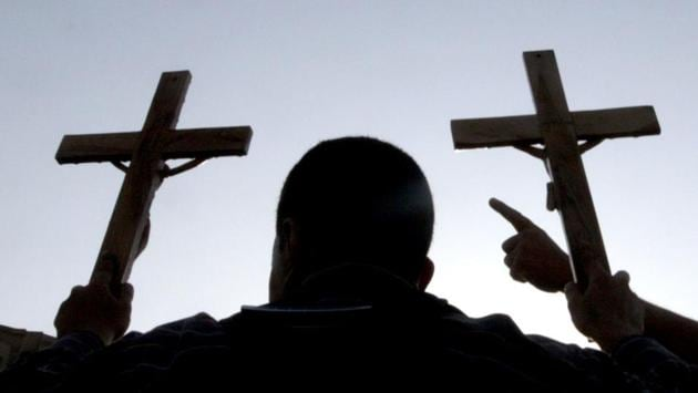According to the 2011 census, Christians constitute about 2.3 % of India's population. Manipur has 34%, Goa 26.7%, Punjab 1.26% and Uttarakhand less than 1%.(File photo)