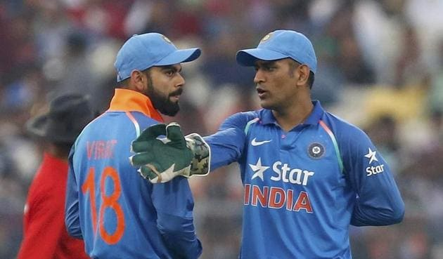 Virat Kohli, Indian cricket team captain, lauded Mahendra Singh Dhoni for his 134 against England.(REUTERS)