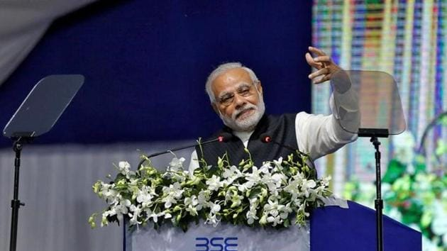 Prime Minister Narendra Modi delivers a speech after he inaugurated the India's first international exchange - India INX in Gujarat International Finance Tec-City (GIFT) in Gandhinagar.(Reuters File Photo)