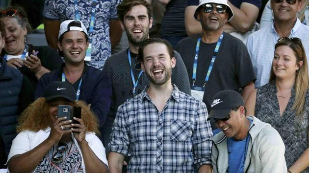 Alexis Ohanian, fiance of Serena Williams, at the Australian Open tennis championship 2017.(REUTERS)