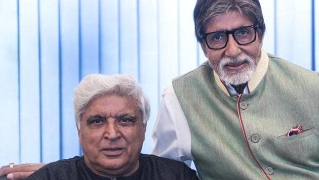 Javed Akhtar and Amitabh Bachchan share their memories of the iconic film Deewaar.(Satish Bate/HT PHOTO)