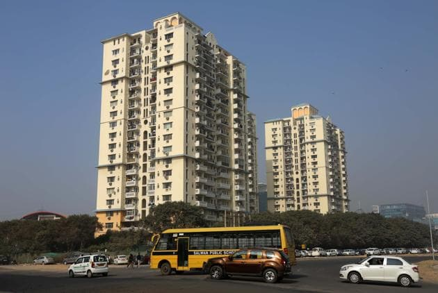 Budget 2017 is expected to provide some cheer to the real estate sector in the form of more tax benefits for first-time homebuyers and clarity on the Pradhan Mantri Awas Yojana.(Sanchit Khanna, HT Photo)