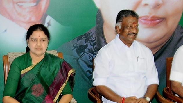 AIADMK general secretary VK Sasikala was elected as the party's legislative party leader on Sunday, setting the stage for her to become Tamil Nadu chief minister. Tamil Nadu chief minister O Panneerselvam resigned.(PTI File)
