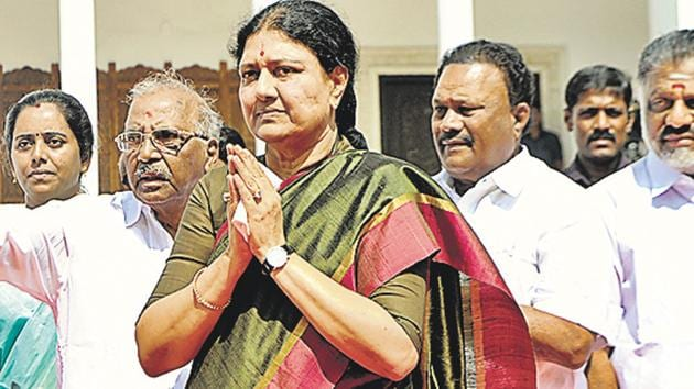 VK Sasikala is the most recognisable face in the AIADMK, with, probably, O Panneerselvam as an exception(AFP)