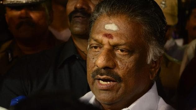O Panneerselvam has claimed that he was forced to resign as Tamil Nadu chief minister.(HT Photo)