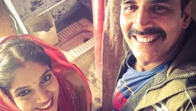 Actors Akshay Kumar and Bhumi Pednekar would soon be seen in a film titled Toilet: Ek Prem Katha.(Instagram/Akshay Kumar)