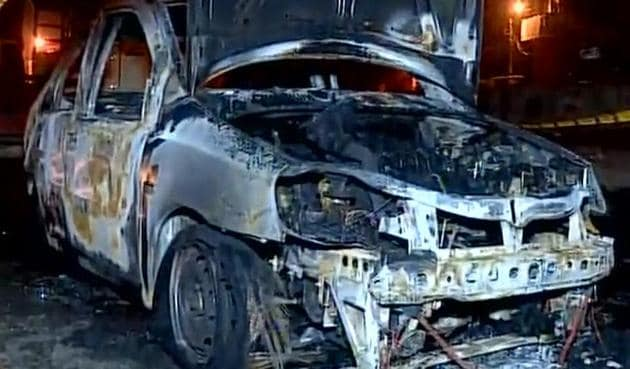 Initial investigation revealed that Sachin had his seat belt on and could not remove it in when the fire broke out .(ANI Photo)