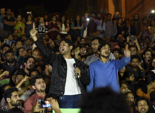 "Freedom of expression was curtailed by the authorities in several cases in 2016. An outdated sedition law was used to target three students at Jawaharlal Nehru University for allegedly raising ""anti-national"" slogans(Hindustan Times)"