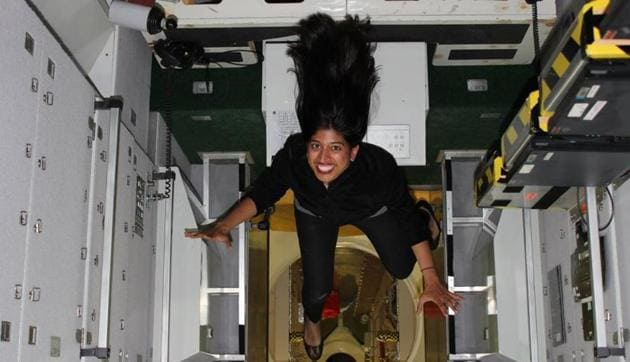 Dr Shawna Pandya will be only the third woman of Indian origin, after Kalpana Chawla and Sunita Williams, to fly to space.(HT)