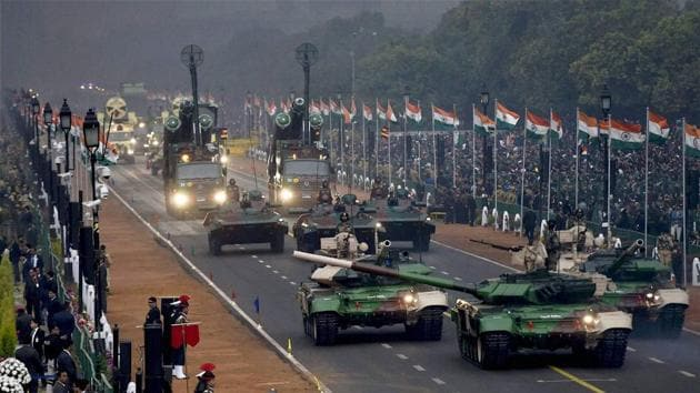Indian army's mechanised columns on display at the Rajpath during the 68th Republic Day Parade, New Delhi. (Representative photo)(PTI)
