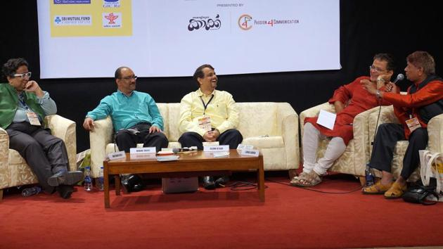 A panel discussion during last year's Gateway LitFest.(HT Photo)