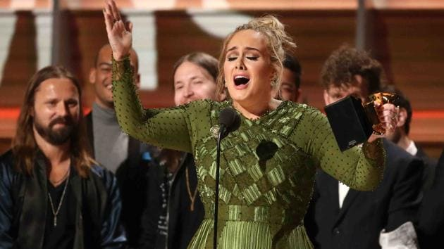 """Adele was the big winner at this year's Grammys, taking home home gongs on awards Sunday night, including album, record and song of the year. She beat Beyonce in the top three categories with her comeback album """"25,"""" but paid tribute to Beyonce and her groundbreaking """"Lemonade"""" album."""