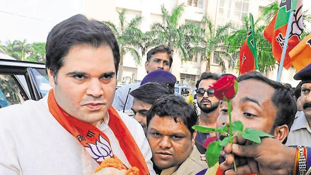 BJP MP Varun Gandhi is conspicuous by his absence in the campaign trails in Uttar Pradesh, including in his own constituency of Sultanpur.(Mujeeb Faruqui/HT File Photo)